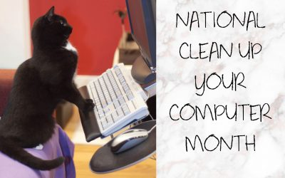 National Clean Up Your Computer Month